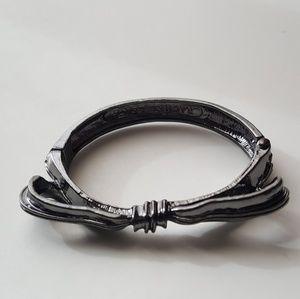 Rachel Leigh Audrey Bow Bracelet Metallic